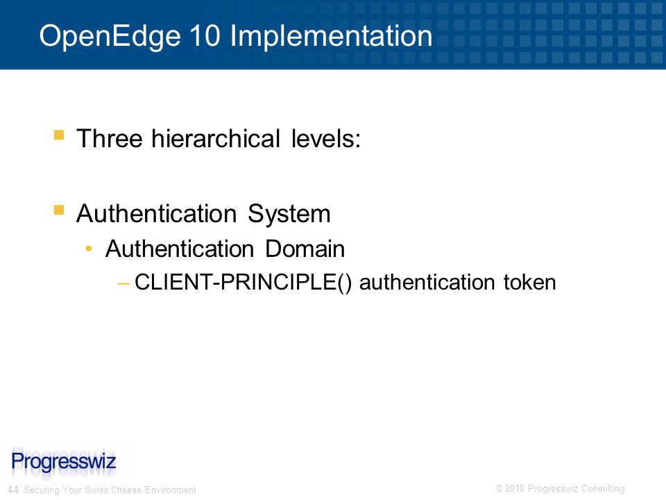OpenEdge 10 Implementation