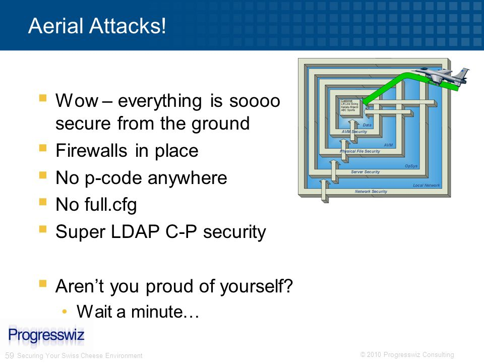 Aerial Attacks! Wow – everything is soooo secure from the ground