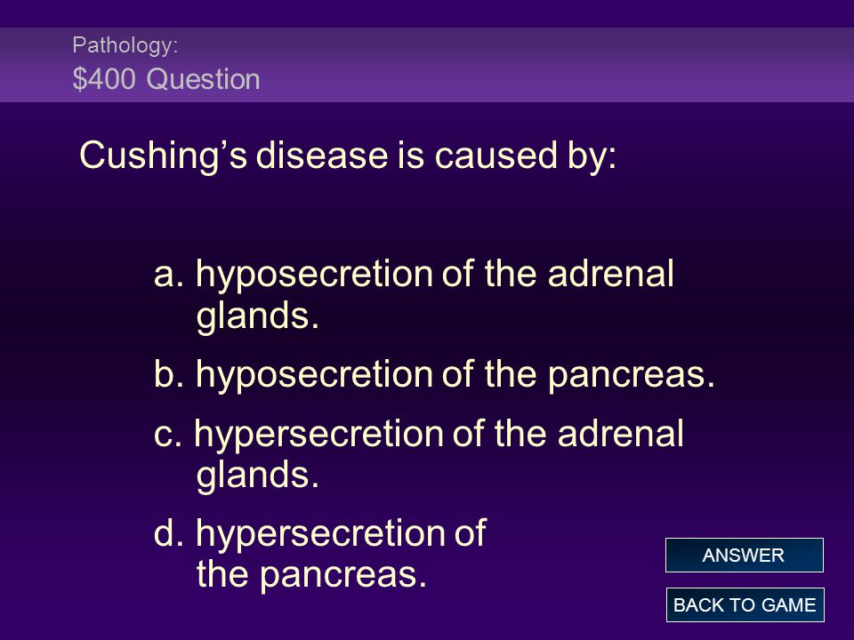 Cushing's disease is caused by: