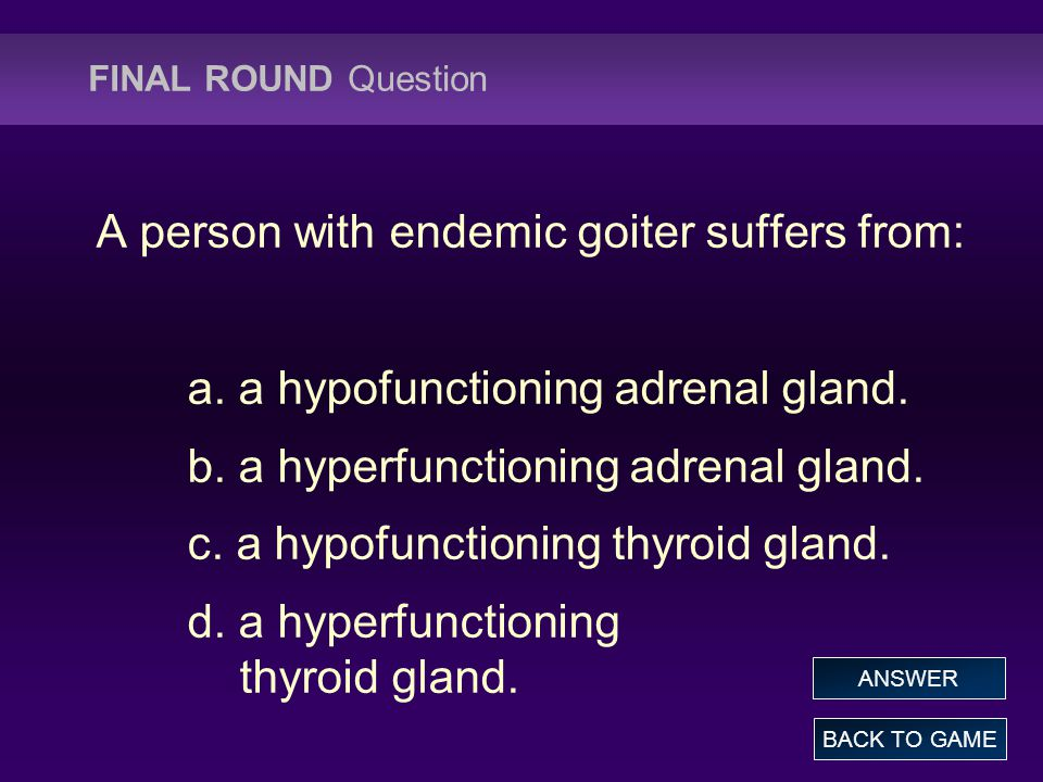 A person with endemic goiter suffers from: