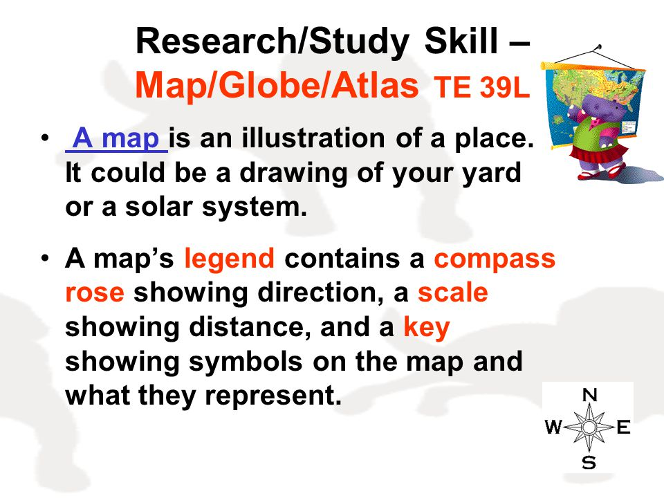 Research/Study Skill – Map/Globe/Atlas TE 39L