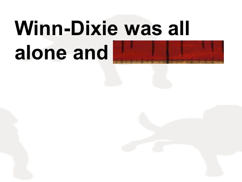 Winn-Dixie was all alone and friendless.