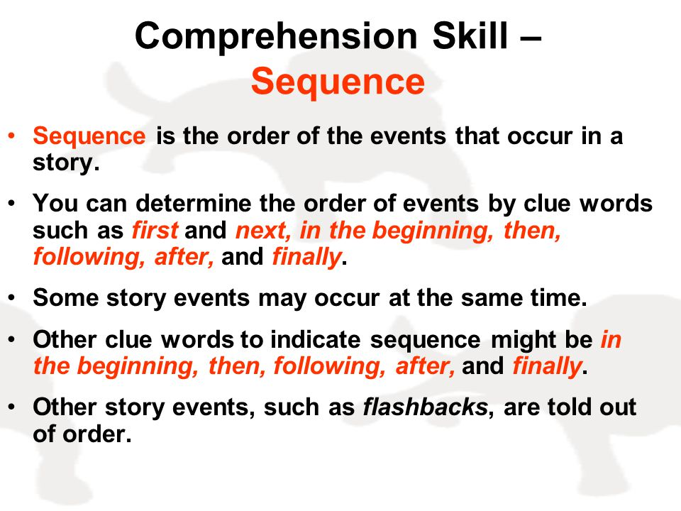 Comprehension Skill – Sequence