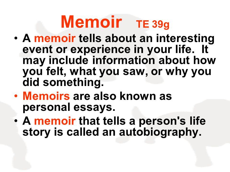 Memoir TE 39g