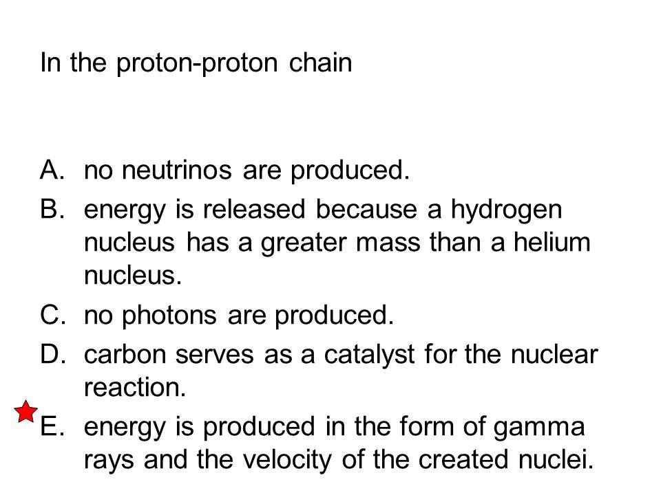In the proton-proton chain