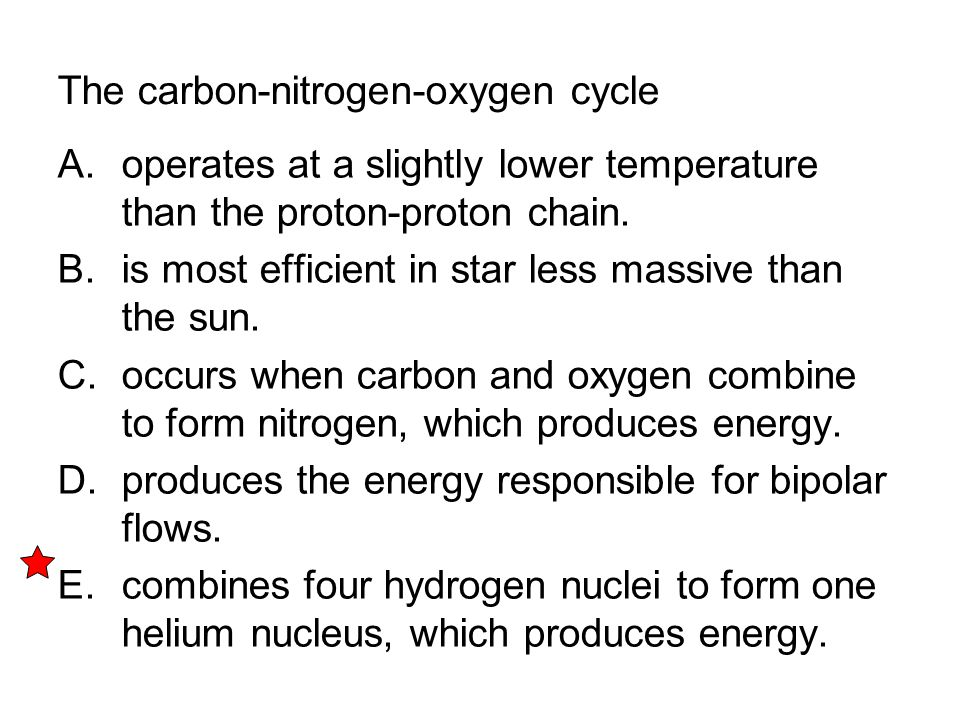The carbon-nitrogen-oxygen cycle