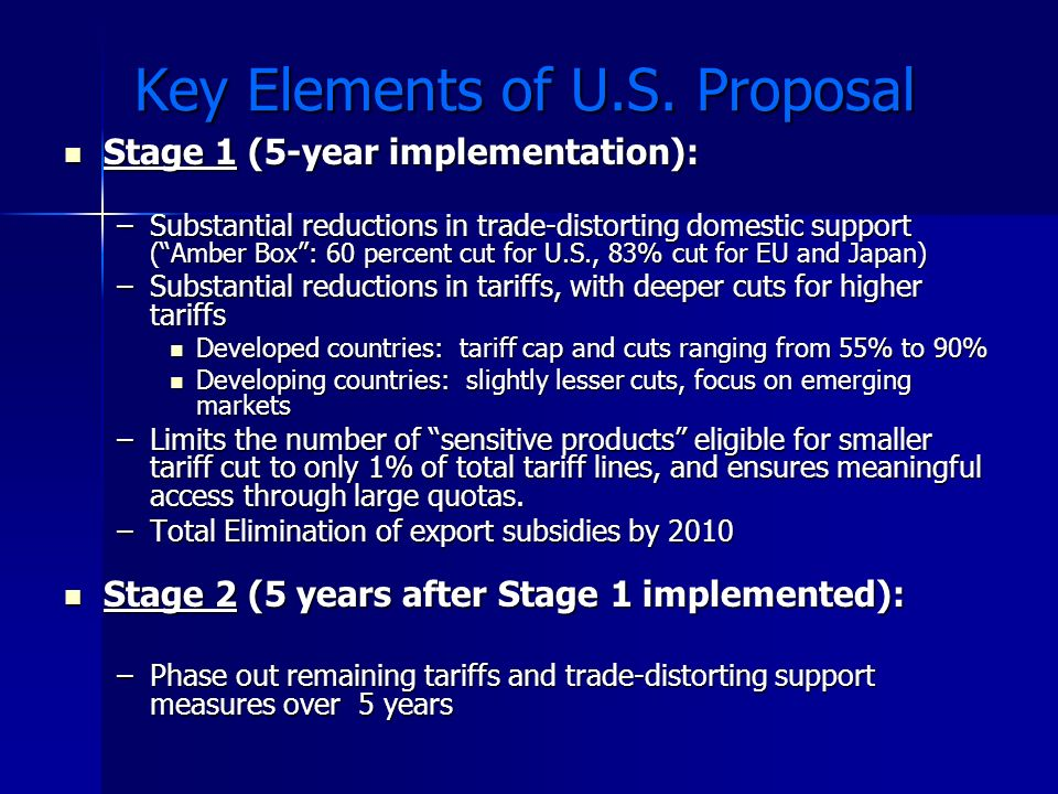 Key Elements of U.S. Proposal