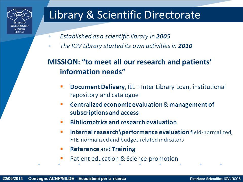Library & Scientific Directorate