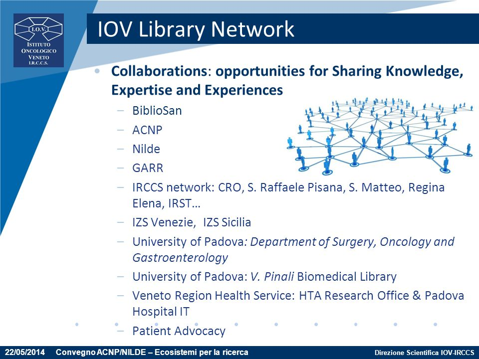 IOV Library Network Collaborations: opportunities for Sharing Knowledge, Expertise and Experiences.