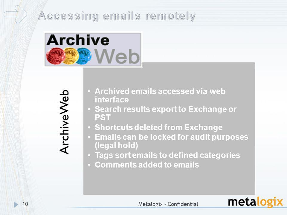 Accessing emails remotely