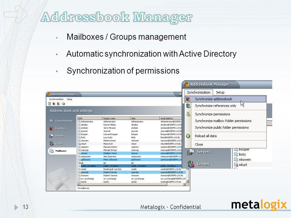 Addressbook Manager Automatic synchronization with Active Directory
