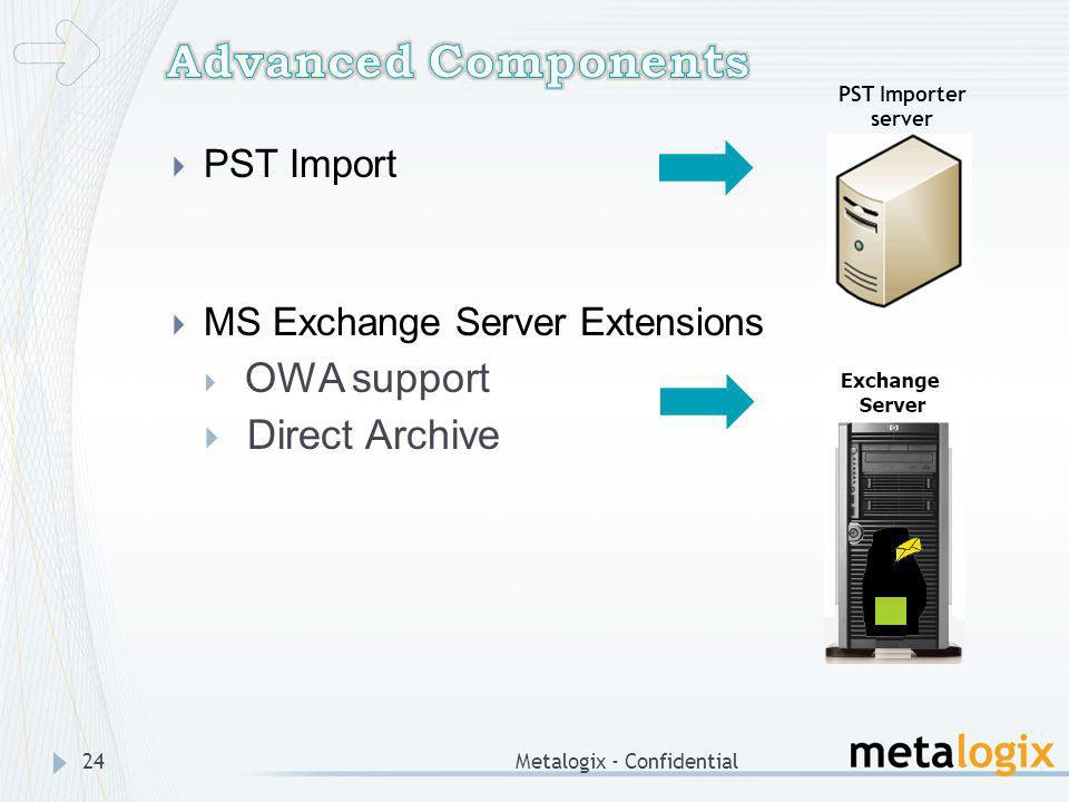 Advanced Components Direct Archive PST Import