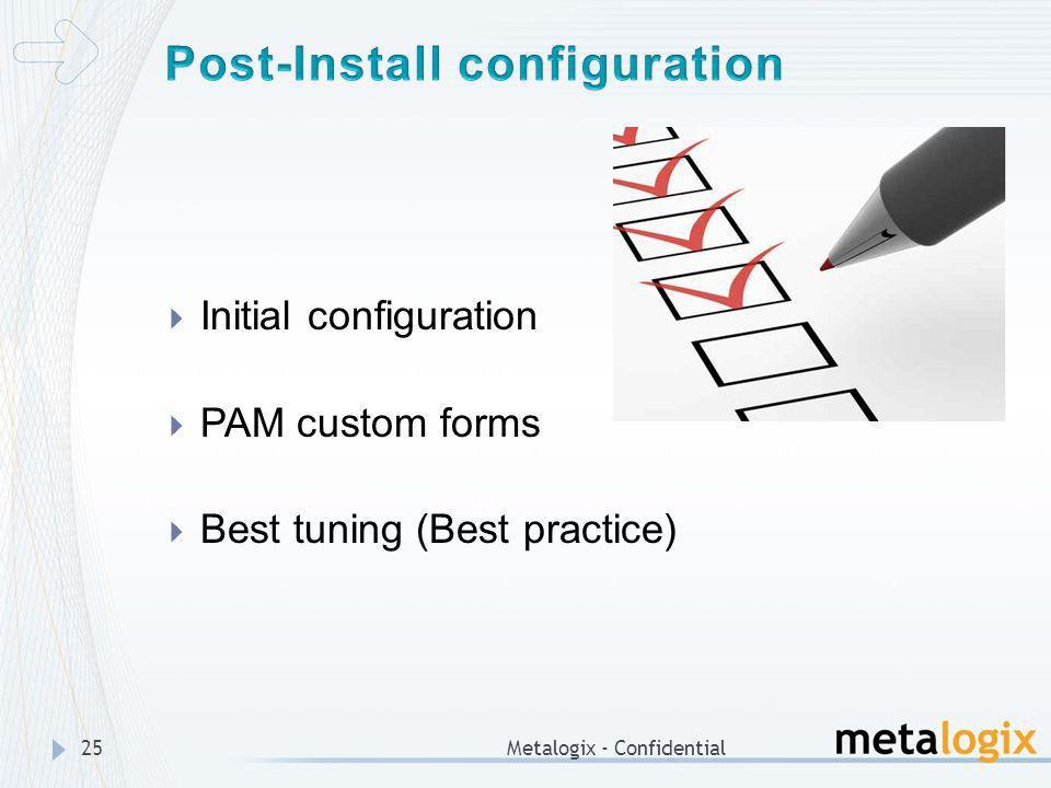Post-Install configuration