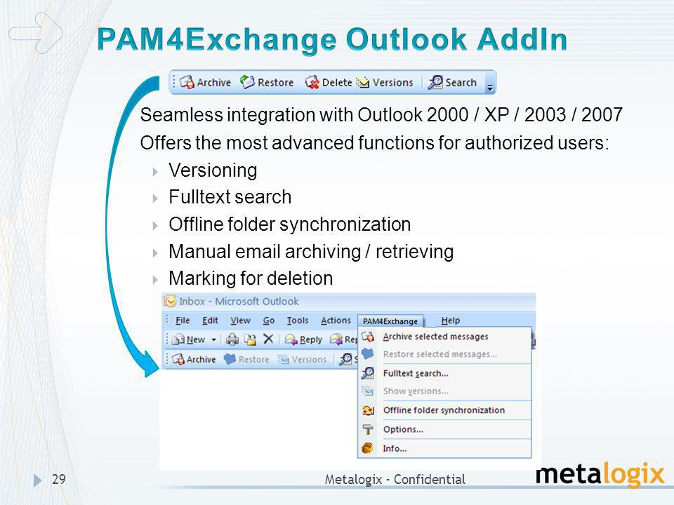 PAM4Exchange Outlook AddIn