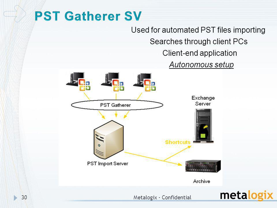 PST Gatherer SV Used for automated PST files importing