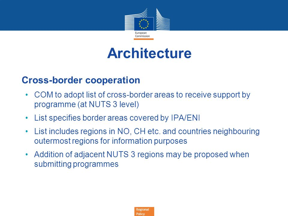Architecture Cross-border cooperation
