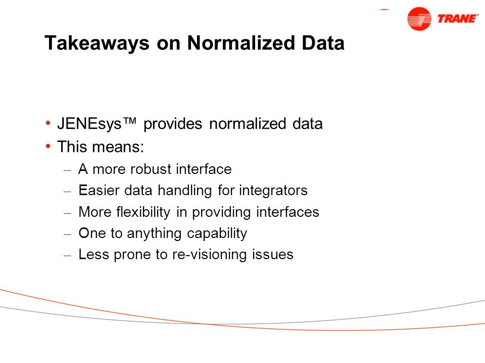Takeaways on Normalized Data