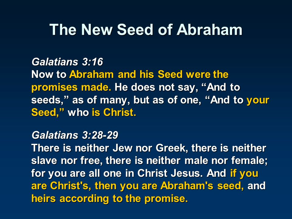 The New Seed of Abraham