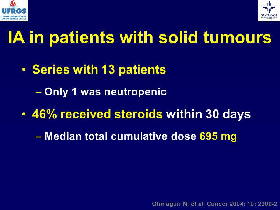 IA in patients with solid tumours