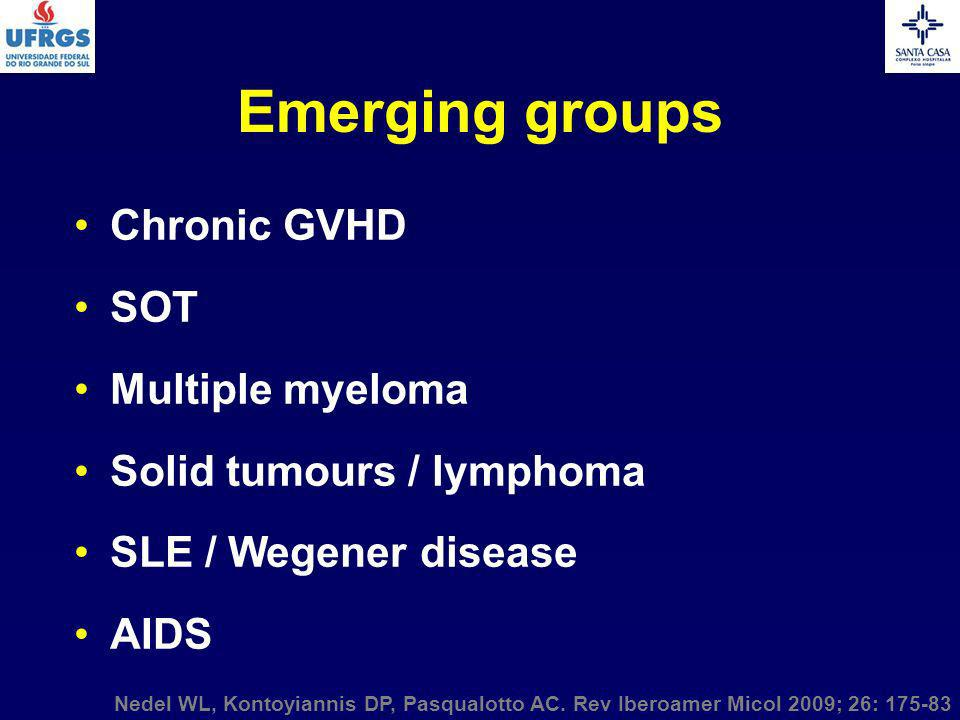Emerging groups Chronic GVHD SOT Multiple myeloma