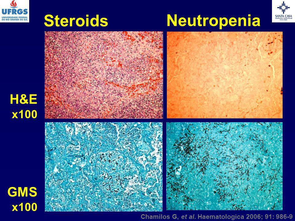 Steroids Neutropenia H&E GMS x100 x100