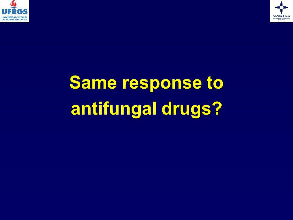 Same response to antifungal drugs