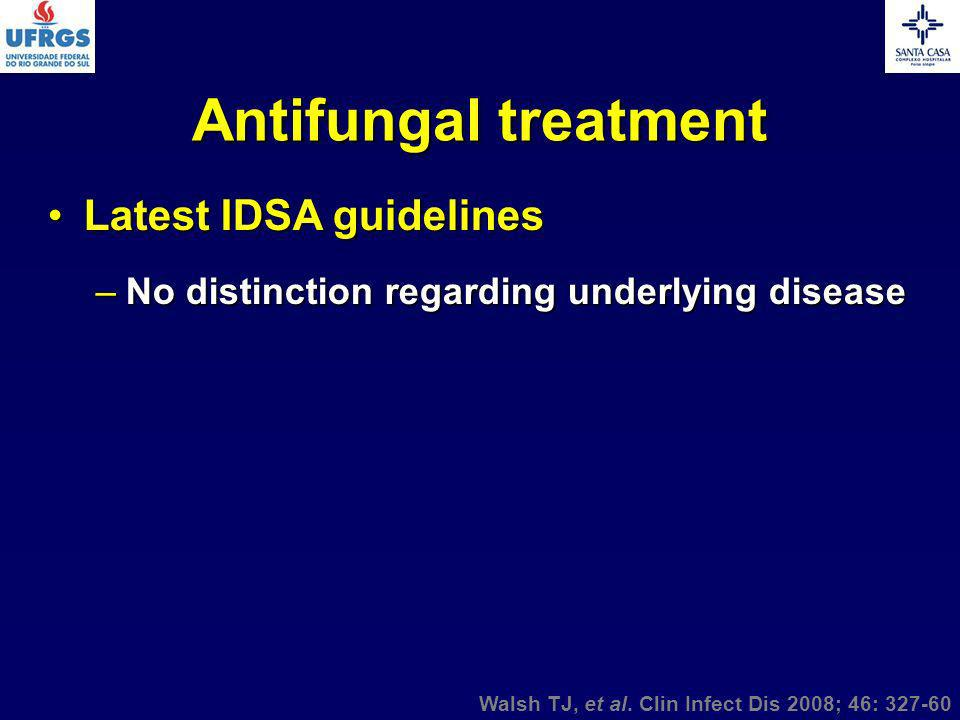 Antifungal treatment Latest IDSA guidelines