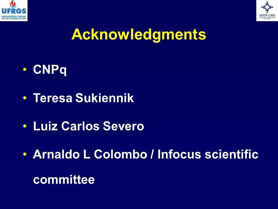 Acknowledgments CNPq Teresa Sukiennik Luiz Carlos Severo