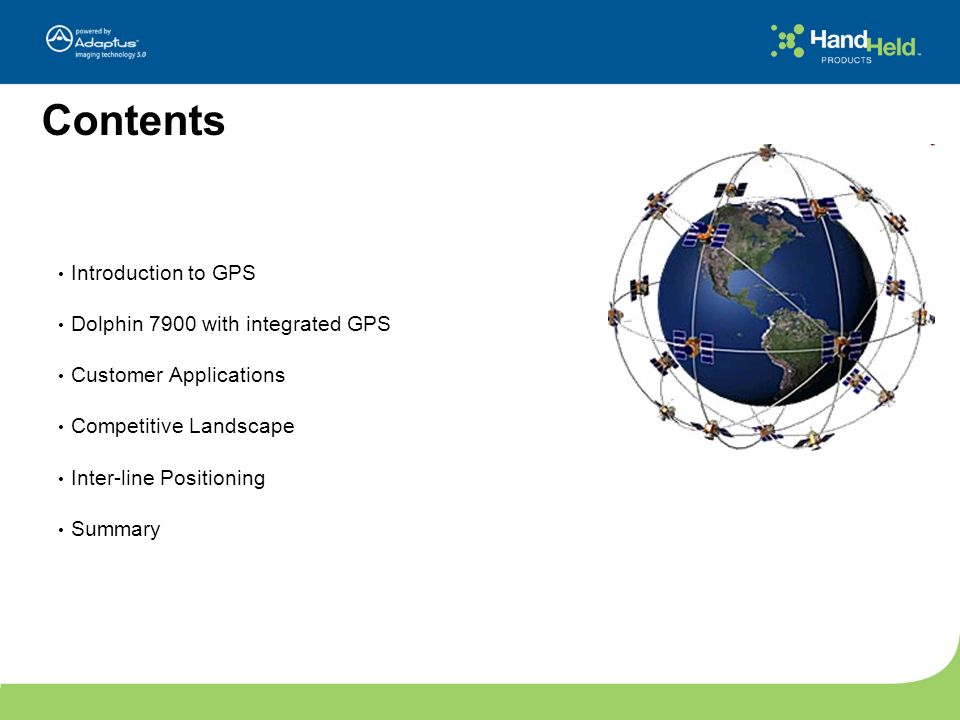 Contents Introduction to GPS Dolphin 7900 with integrated GPS