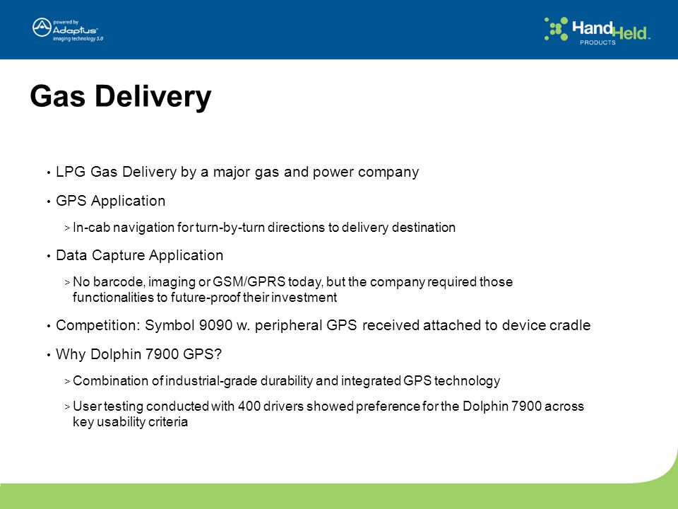 Gas Delivery LPG Gas Delivery by a major gas and power company