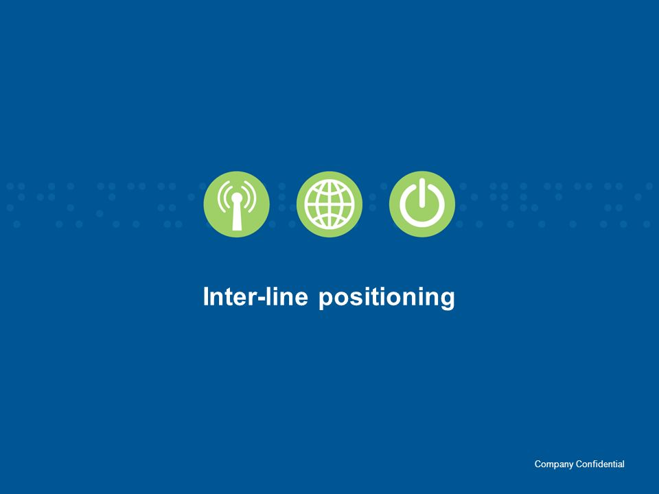 Inter-line positioning