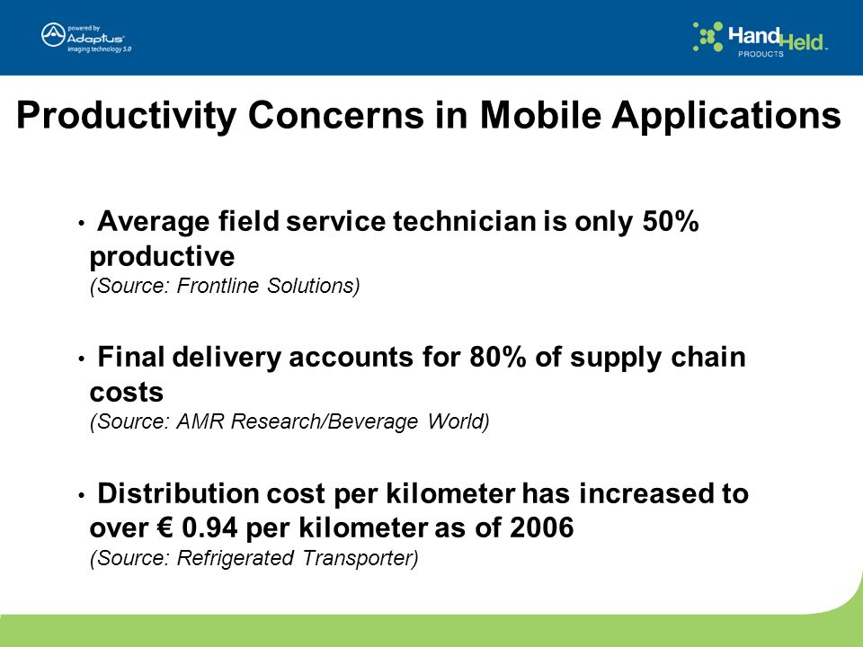 Productivity Concerns in Mobile Applications