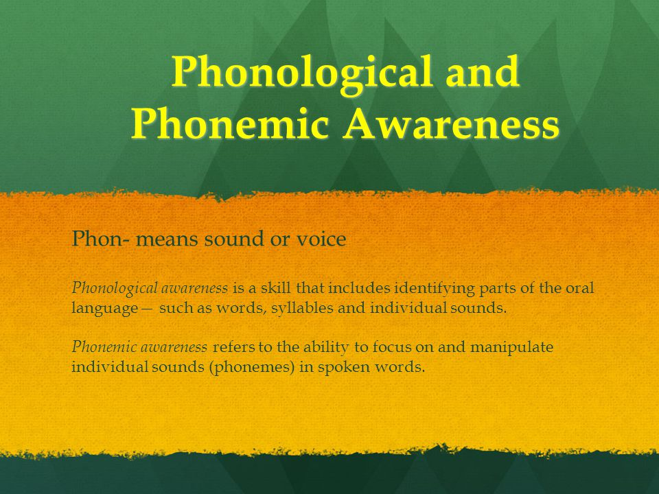 Phonological and Phonemic Awareness