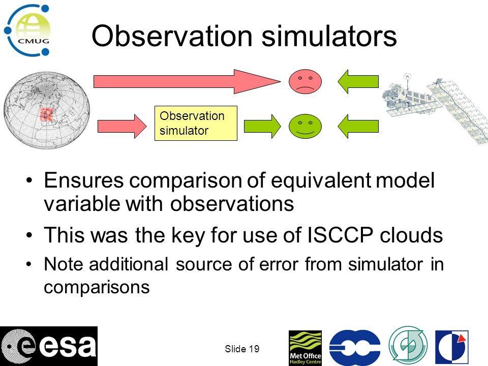 Observation simulators