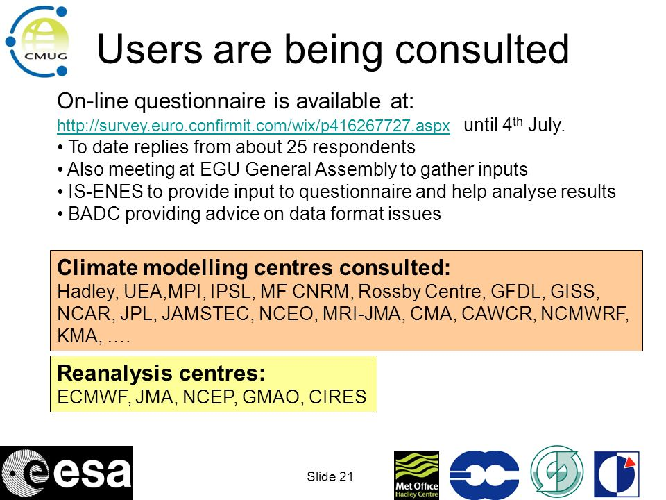 Users are being consulted