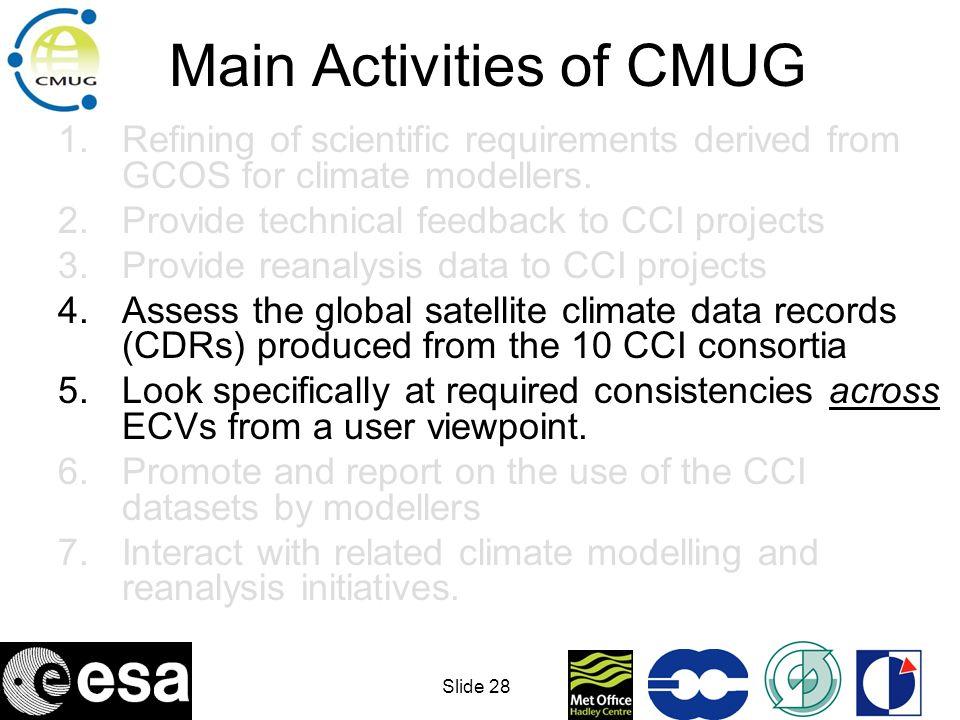 Main Activities of CMUG