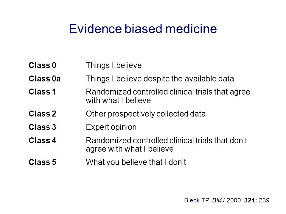 Evidence biased medicine