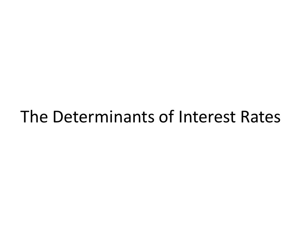 The Determinants of Interest Rates