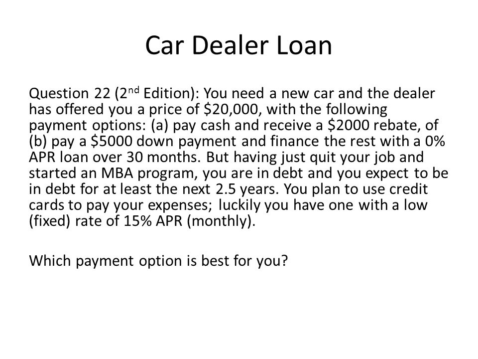 Car Dealer Loan