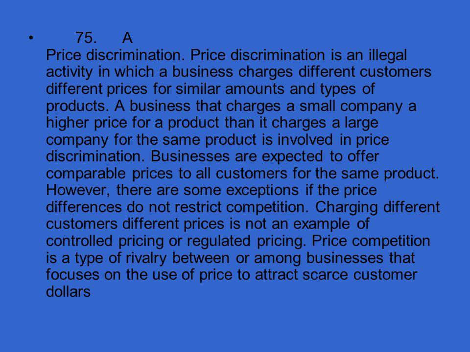 75. A Price discrimination