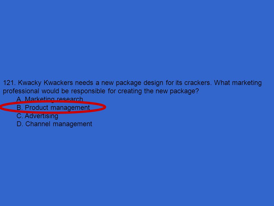 121. Kwacky Kwackers needs a new package design for its crackers