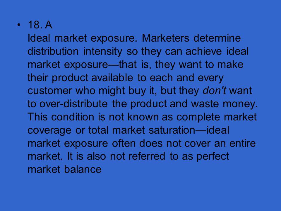18. A Ideal market exposure