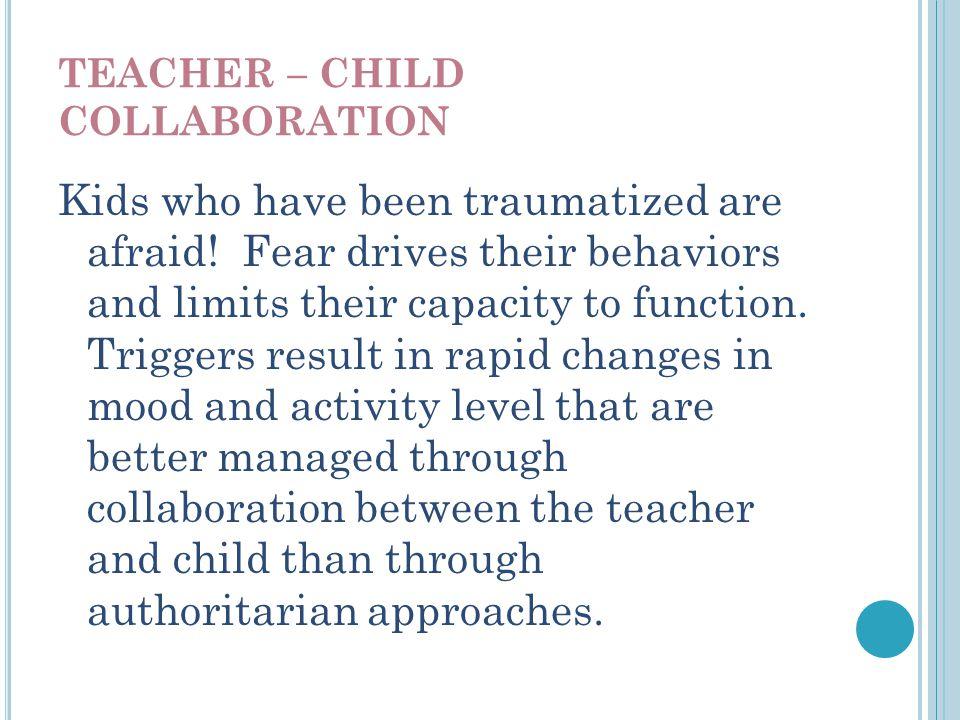TEACHER – CHILD COLLABORATION