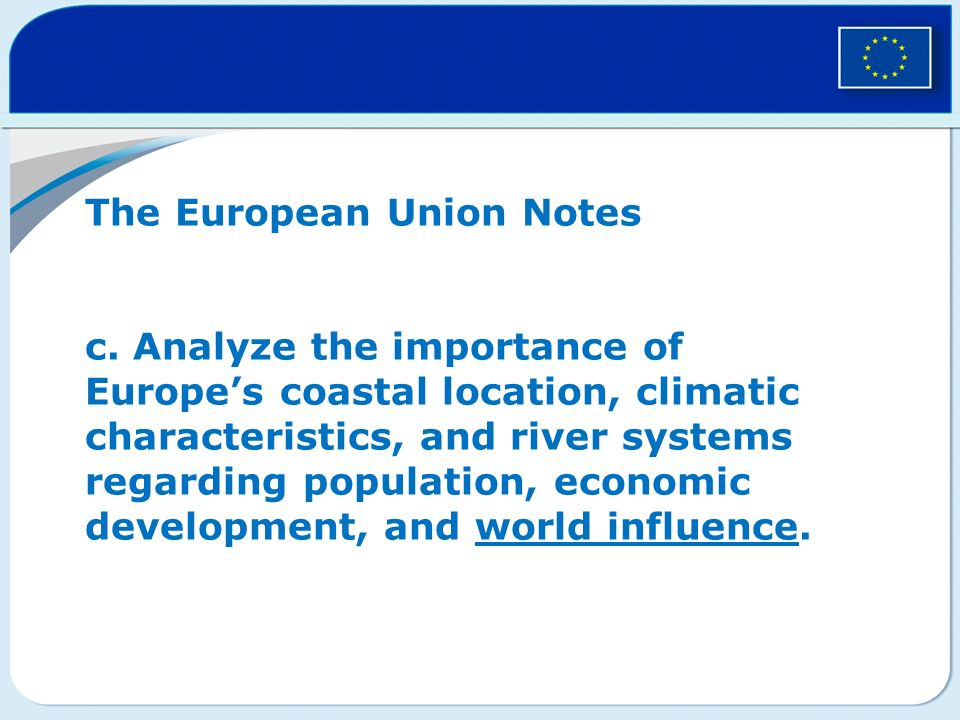 The European Union Notes c