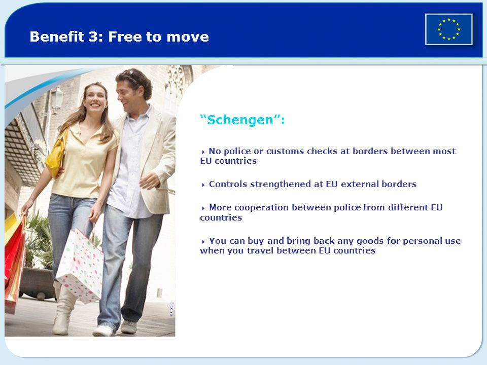 Benefit 3: Free to move Schengen :