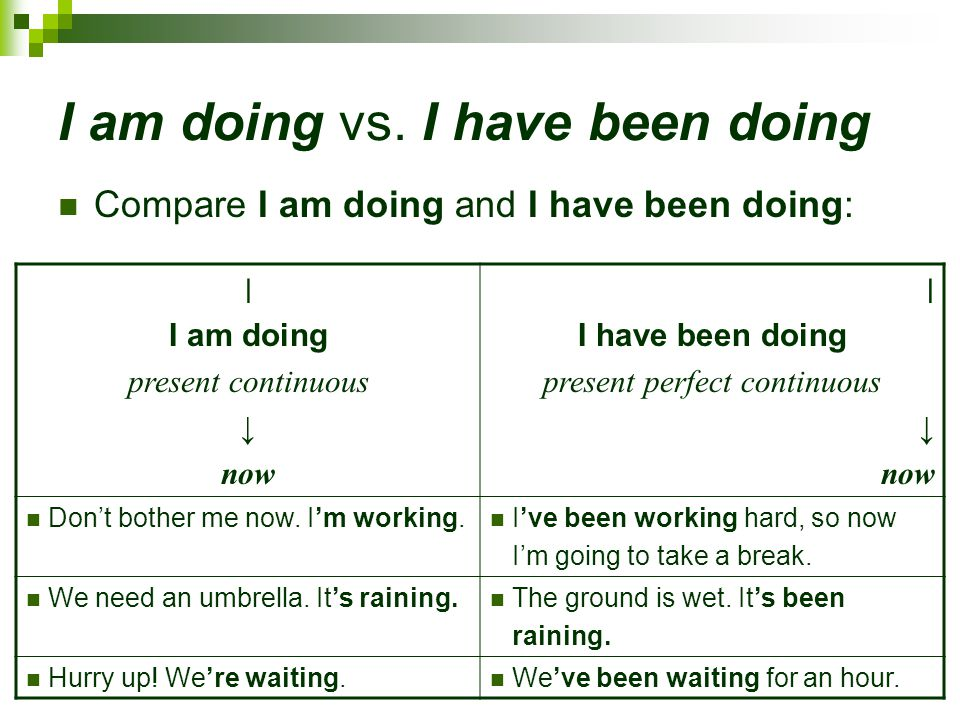 I am doing vs. I have been doing