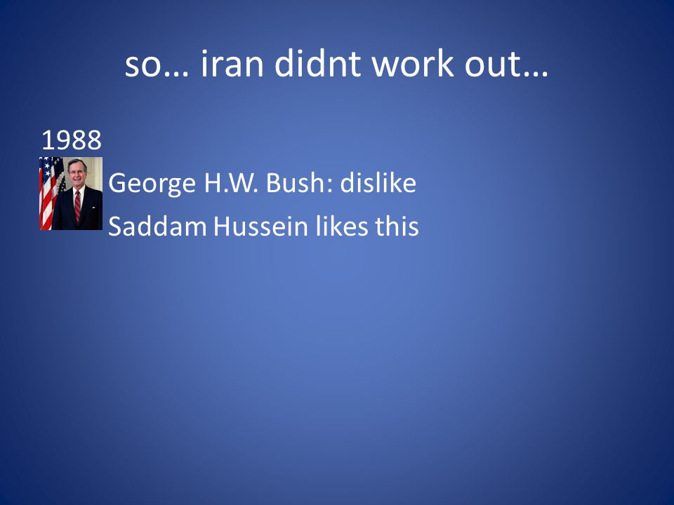 so… iran didnt work out…