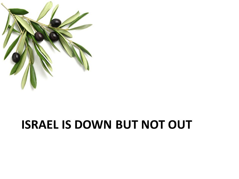 Israel is down but not out