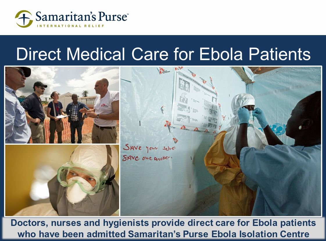 Direct Medical Care for Ebola Patients