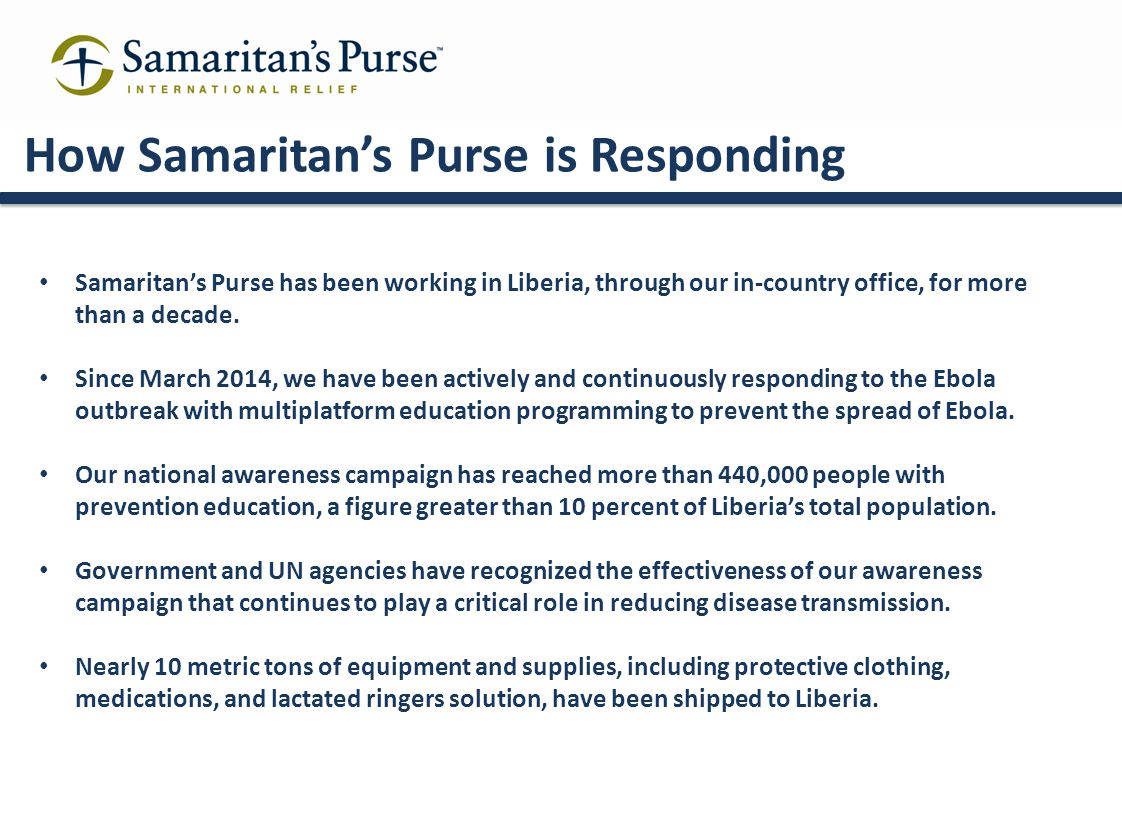 How Samaritan's Purse is Responding